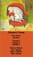 Armchair Nap Business Card Template